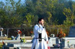 Fr Jason Vidrine Blessing Cemeteries
