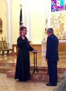 Fr Brad Oath of Office 3