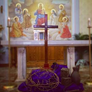 Good Friday Relic of Cross Empty Tabernacle