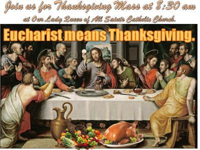 Thanksgiving Mass 2015
