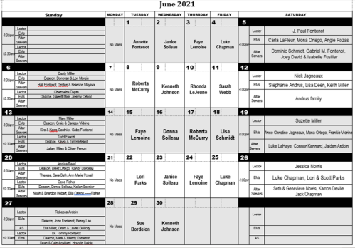 2021-06 June Minister Schedule png