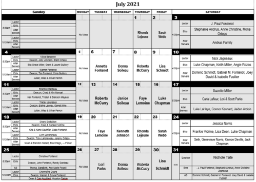 2021-07 July Minister Schedule png