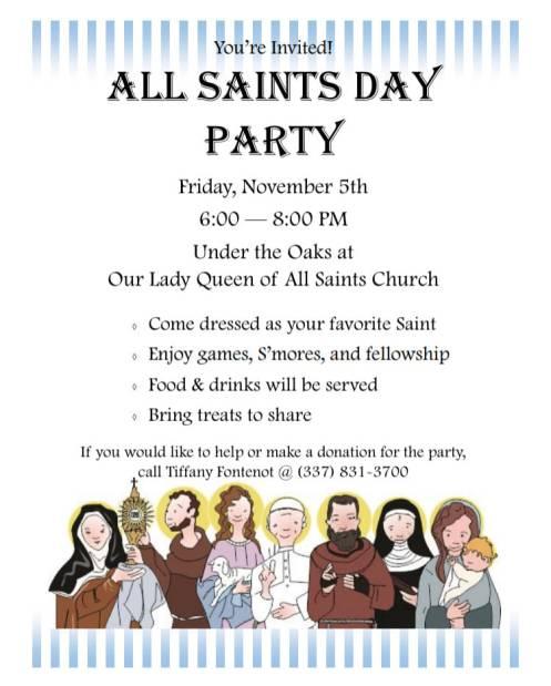 All Saints Party 2021